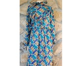 VTG 70s early 80s Chiffon Dress