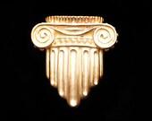 Historic greek Ionic column brooch