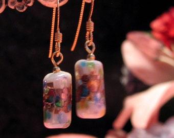 Japanese vintage glass earrings