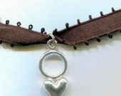 Choker Necklace 1960s with Sterling Silver Designer Hallmarked Heart
