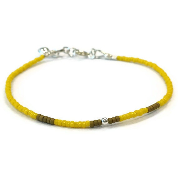 Yellow Bracelet Heart Charm Stack Layer Sterling Silver Jewelry Children's Jewellery Fashion Beaded