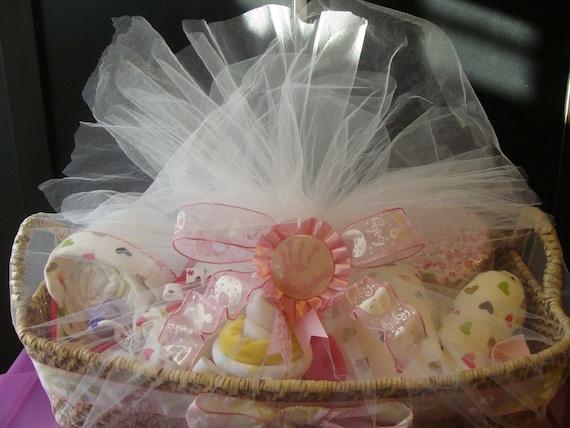 Baby Gift Basket Etsy : Items similar to diaper baby gift basket on etsy