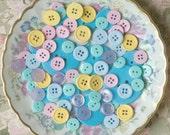 buttons I Postcard