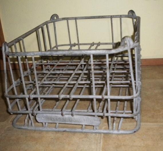 60s Metal Milk Crate / Carrier - Logstown Dairy