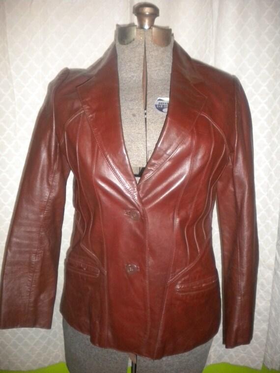 Womens Bermans Oxblood Leather Jacket
