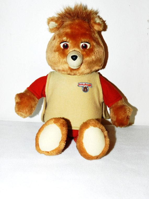 Vintage 1985 WOW Talking Teddy Ruxpin With Tape