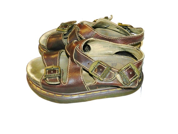Vintage 90s Leather Dr Martens Sandals - UK5 US6