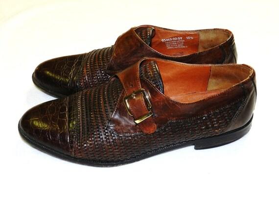 Vintage Mens Leather BRASSBOOT Dress Shoes - 10.5