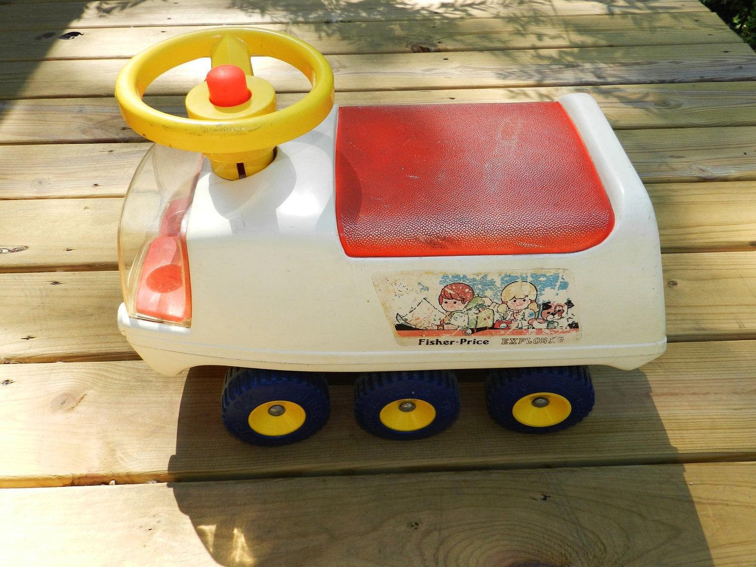 Classic Fisher Price Toys : Vintage s fisher price atv explorer ride on toy
