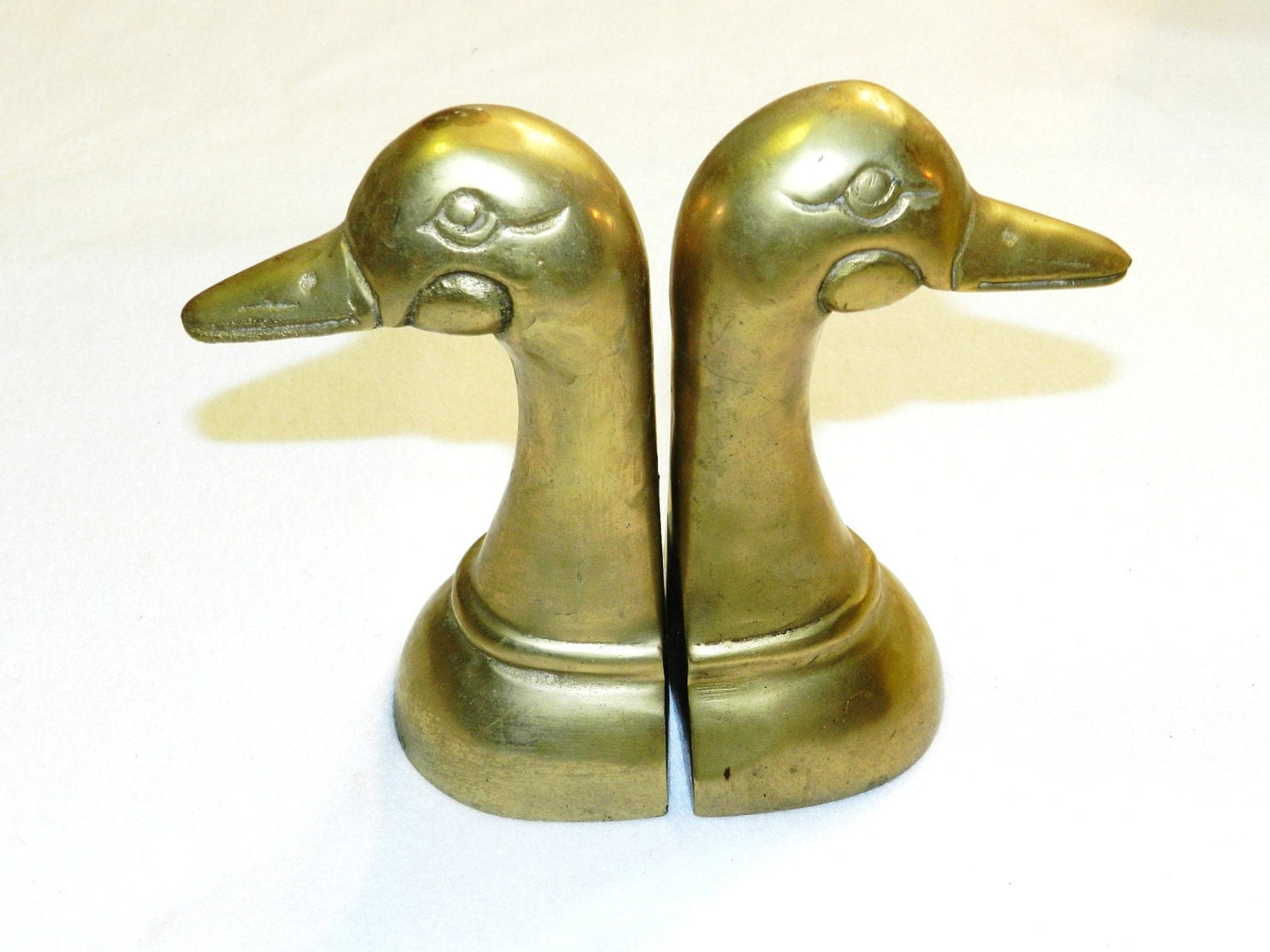 Vintage brass duck head bookends by ferrytaletreasures on etsy - Antique brass bookends ...
