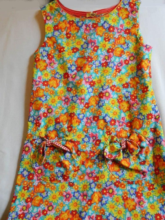 Sundress Girl's Size 8 Bright Floral Print