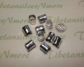 8 pcs per pack 10x12mm 8mm diameter Plain Large Hole Tube Antique Silver Finish Lead free Pewter