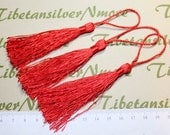12 pcs per pack Cotton Tassel 80mm length on Tassel 5 colors to choose for Scarf jewelry end cord.