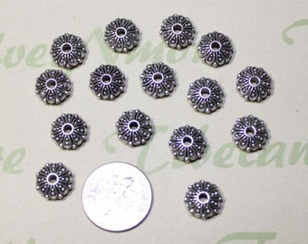 16 pcs per pack 10x4mm Solids Spacer Rondelle Antique Silver Lead Free Pewter