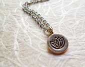 Sterling Silver Lotus Purity Charm Necklace