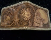 Traditional western with skull wallet