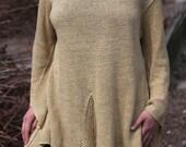 Linen hand-knitted sweater - 010