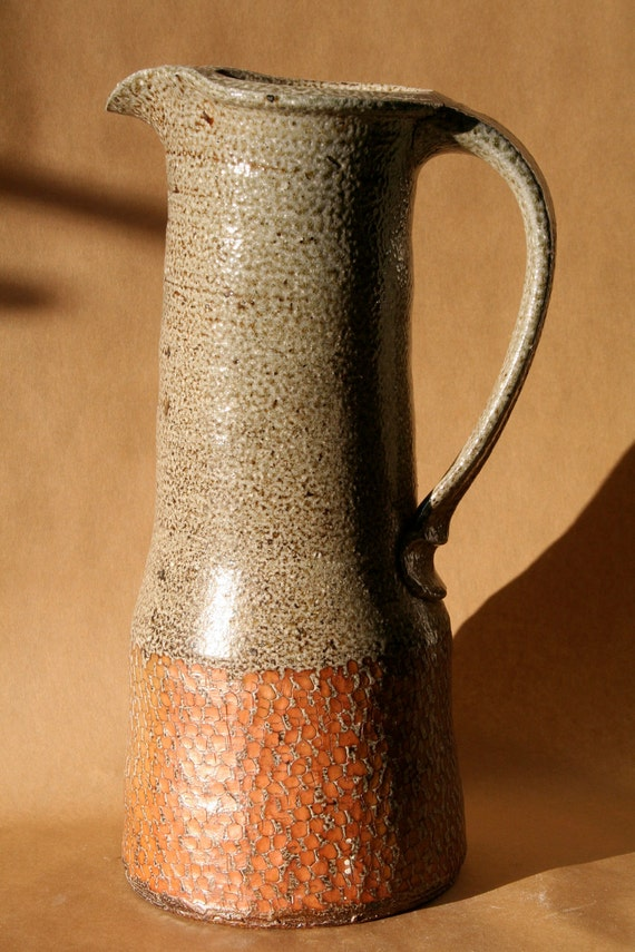 Saltfired, rope-inlayed Pitcher