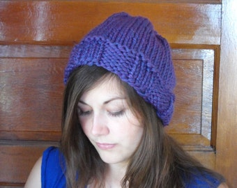 Purple Stockinette Beanie