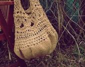 Hobo tote bag beige eco-friendly fashion gift idea for her mom girl