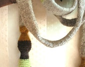 Crochet scarf tie for men women vintage inspired - Ready to ship - OOAK