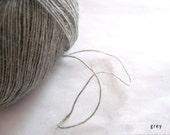 Alpaca blend yarn - Laceweight yarn - 2-3ply - grey - crochet thread