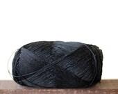 Black mercerized cotton yarn, lace weight yarn - 100g - crochet thread