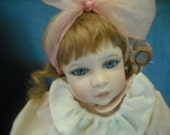 Porcelain Gingham and Bows Doll Mallory Sandy Freeman 1990s