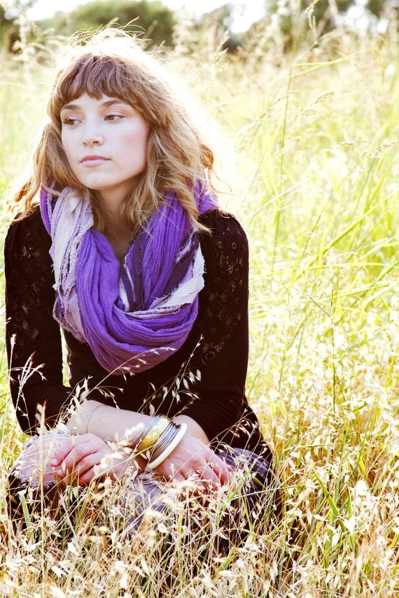 Violet Braided Scarf