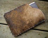Textured Leather Hand Stitched Credit Card ID Holder