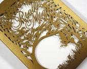 """Personalized Laser cut pocket - """"Woodland Faeries"""""""