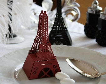 Eiffel Tower Favor Box