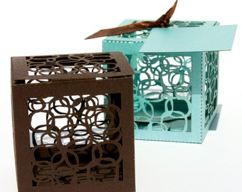 Laser cut favor box - Circles