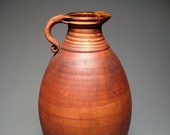 Hand Burnished Brown Pitcher