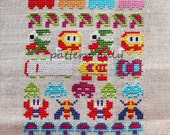 Arcade - Video Game Band Sampler Cross Stitch PATTERN