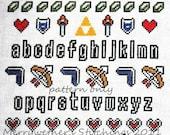 Legend of Zelda - Band Sampler Cross Stitch PATTERN