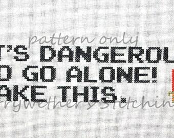 Zelda - It's Dangerous - Cross Stitch PATTERN