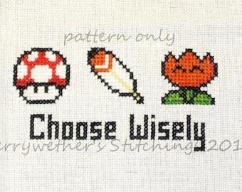 Super Mario World - Choose Wisely Cross Stitch PATTERN