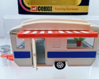 Vintage 1975 Corgi Toys Camper Trailer Touring Van No. 490 In Original Box. 1/46 Scale.