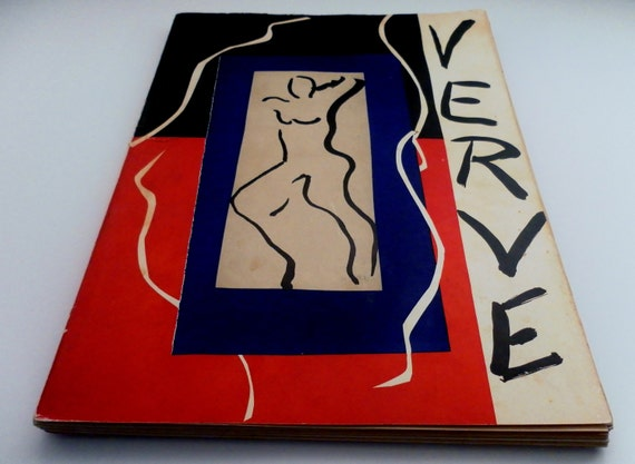 Rare 1937 Verve Art Magazine Vol.1 No.1  Premiere First Issue Cover Henri Matisse.  Original Lithographs and Heliogravures Photographs.