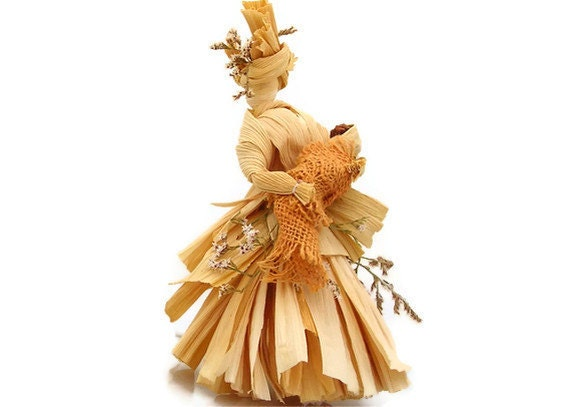 A Mother's Love Corn Husk Doll