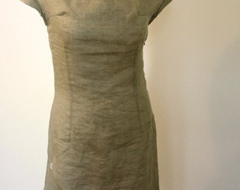 Linen dress - Summer time   ready to ship