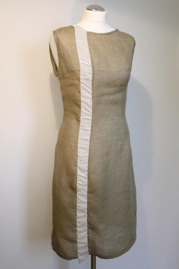 Linen dress - Summer feast 1 with natural silk   Discount 35%