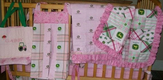 Pink John Deere Baby Bedding