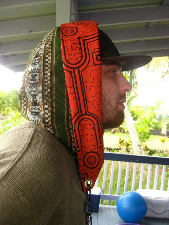 Custom Peru Hood - Seamless, Fully Reversible w/ Chain Detail (Unisex)