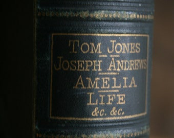 1800's Antique Victorian Book - Tom Jones - Henry Fielding Collection - Amelia - Joseph Andrews (1877)