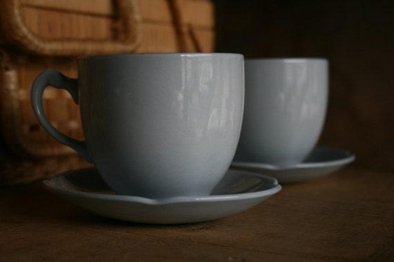 "S A L E - English Mid-Century Tea Set  (""Grey Dawn"" - 7pc)"