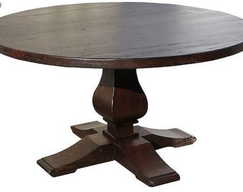 Winston - Round Recycled Douglas Fir Custom Dining Table (Los Angeles)