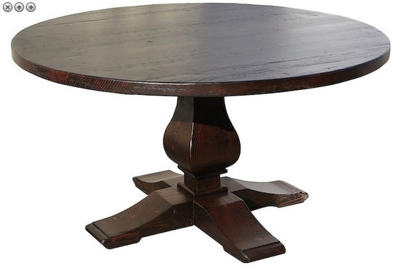 Winston round recycled douglas fir custom dining table los for Buy reclaimed wood los angeles