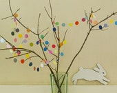 The More The Merrier with Extra Dots: Colorful 1 Inch Diameter (Small) Circles, 12' Paper Garland Decoration For Spring